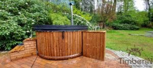 Wood fired hot tub with jets – TimberIN Rojal 1 2