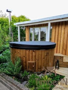 Wood fired hot tub with jets – TimberIN Rojal 3 3