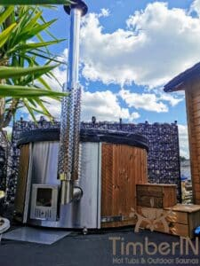 Wood fired hot tub with jets – TimberIN Rojal 4