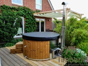 Wood fired hot tub with jets – TimberIN Rojal 5