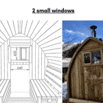 2 small windows for outdoor sauna