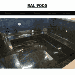 Black RAL 9005 for square rectangular hot tub