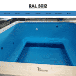 Blue RAL 5012 for square rectangular hot tub