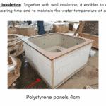Bottom insulation for square rectangular hot tub