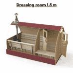 Dressing room 15 m for outdoor sauna