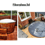 Fiberglass lid for terrace hot tub