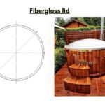 Fiberglass lid for wooden hot tub 1