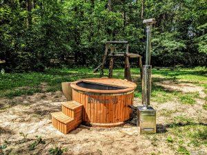 Fiberglass outdoor hot tub with external heater 1