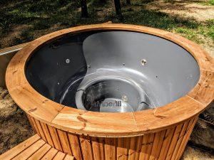 Fiberglass outdoor hot tub with external heater 10