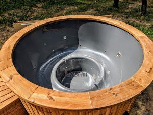 Fiberglass outdoor hot tub with external heater 13