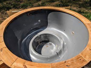 Fiberglass outdoor hot tub with external heater 14