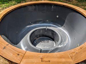 Fiberglass outdoor hot tub with external heater 15