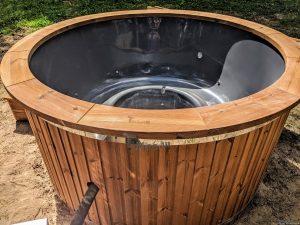 Fiberglass outdoor hot tub with external heater 17