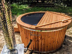 Fiberglass outdoor hot tub with external heater 2
