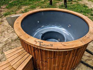 Fiberglass outdoor hot tub with external heater 20