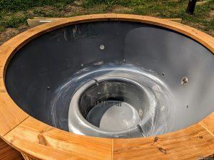 Fiberglass outdoor hot tub with external heater 25