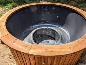 Fiberglass outdoor hot tub with external heater 28