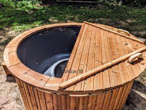 Fiberglass outdoor hot tub with external heater 3