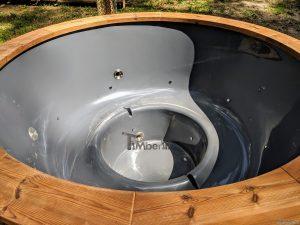 Fiberglass outdoor hot tub with external heater 30