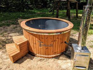 Fiberglass outdoor hot tub with external heater 32