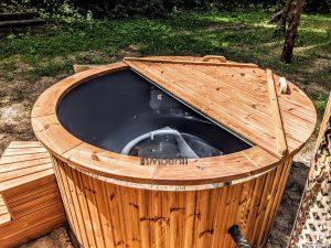 Fiberglass outdoor hot tub with external heater 4
