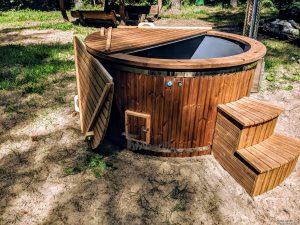 Fiberglass outdoor hot tub with external heater 7