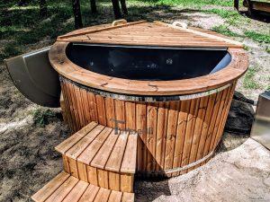 Fiberglass outdoor hot tub with external heater 8