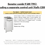 For steam – herbal sauna room Senator combi 9 kW T9C including a separate control unit Xafir CS110C for outdoor sauna