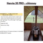 Harvia 20 PRO chimney for outdoor sauna