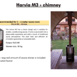 Harvia M3 chimney for outdoor sauna