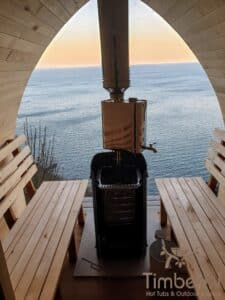 Outdoor home sauna pod 2
