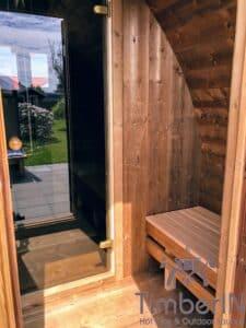 Outdoor home sauna pod 3 4