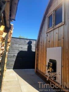 Outdoor home sauna pod 7