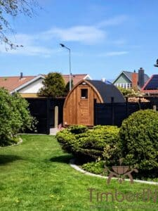 Outdoor home sauna pod 9