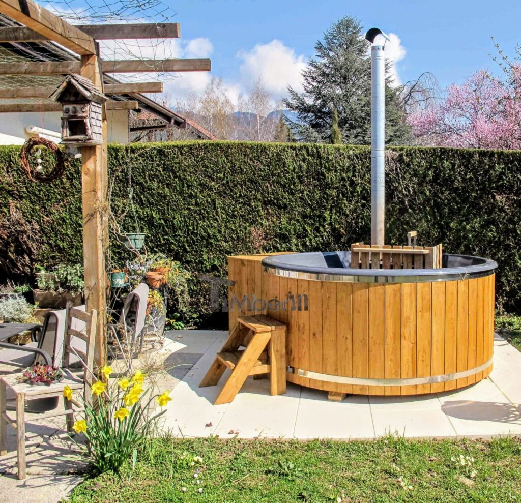 Outdoor jacuzzi hot tub wood fired 4 6 persons with snorker burner 3 scaled scaled