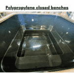 Polypropylene closed benches for square rectangular hot tub