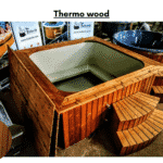 Thermo wood for square rectangular hot tub