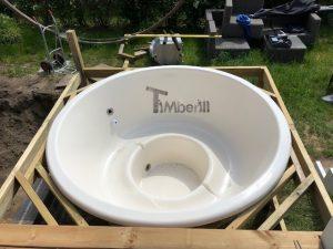 Wellness hot tub with external wood fired burner 4