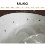 White RAL 9001 for wooden hot tub