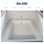 White RAL 9010 for square rectangular hot tub