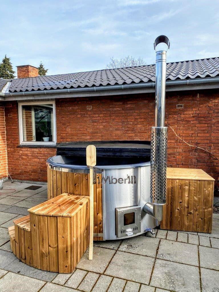 Wood burning fiberglass hot tub with jets Wellness Royal 3 1