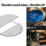 Wooden round edge Wooden lid for wooden hot tub 1