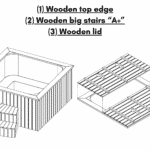 """Wooden top edge Wooden big stairs """"A"""" Wooden lid for square rectangular hot tub"""