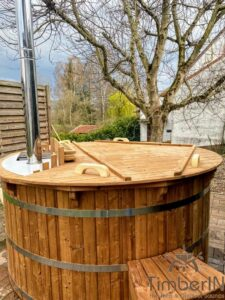 Barrel Wooden Hot Tub Deluxe thermowood 4