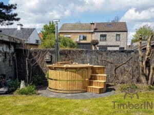Barrel Wooden Hot Tub Deluxe thermowood 5