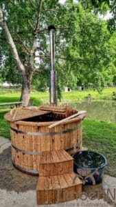 Barrel Wooden Hot Tub Deluxe thermowood 6