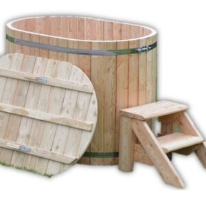 Small wooden hot tub