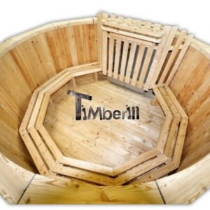Wood fueled hot tub