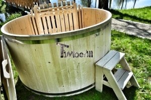 Wooden hot tub basic model made of siberian spruce larch 10
