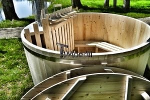 Wooden hot tub basic model made of siberian spruce larch 25
